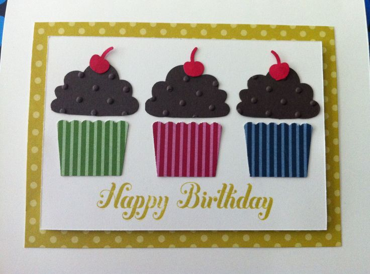 514 best cute handmade birthday cards images on pinterest stampin up card cup cake builder punch bookmarktalkfo Images