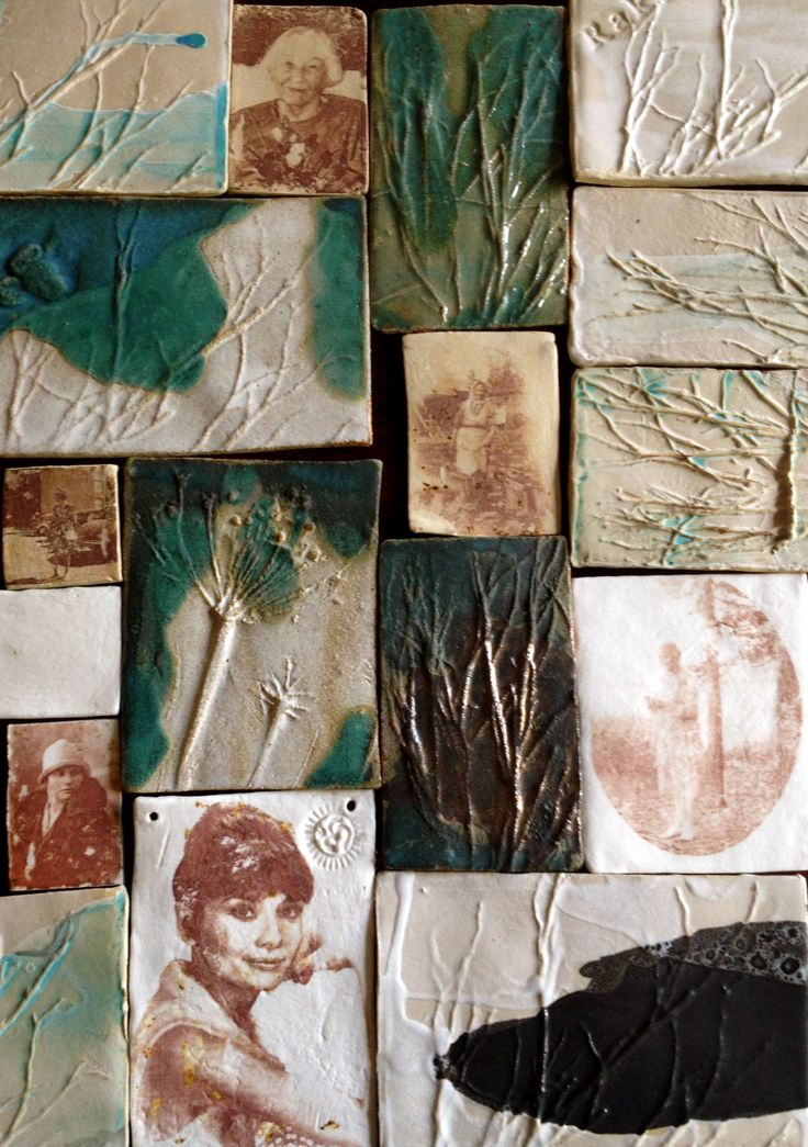 Ceramic tiles made by Jaana Kihl