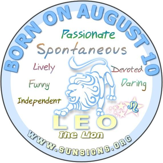 The 10 August birthday horoscope profile shows you are very independent. You are typically a romantic and charming individual.