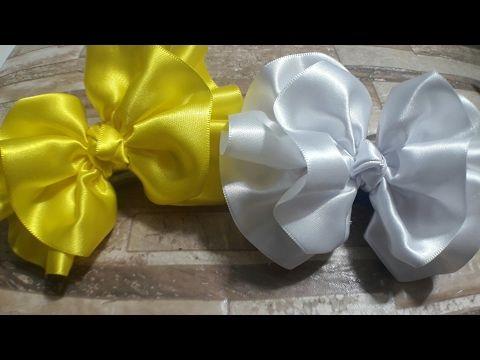 Laço de Cetim  Laço Bonequinha de Luxo   DIY  PAP  TUTORIAL  Iris Lima - YouTube