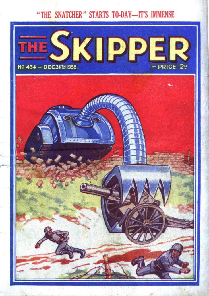 """Ach! Dot iss NOT fair, Britisher schwein!"" Comic Book Cover For The Skipper 434"