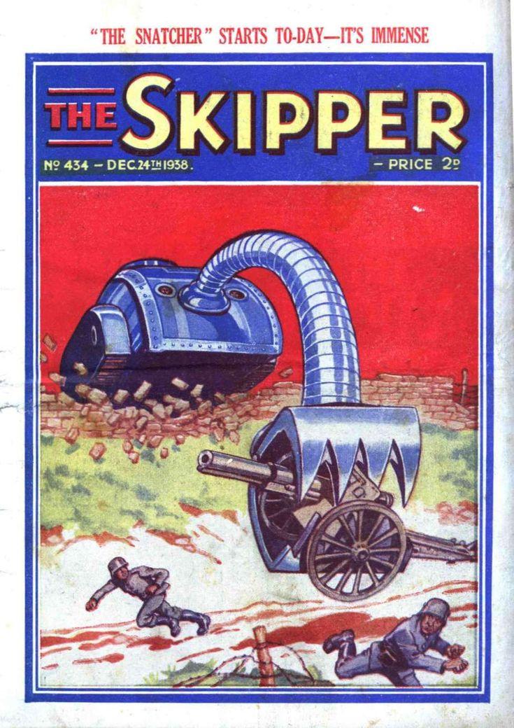 """Ach! Dot iss NOT fair, Britisher schwein!"" Comic Book Cover For The Skipper 434"