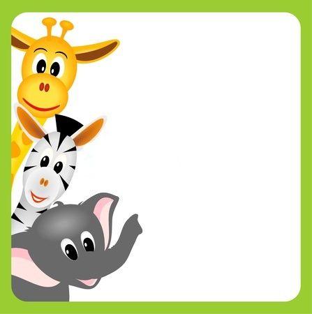 Zoo Animals Clip Art Border Pin by Nadine o...