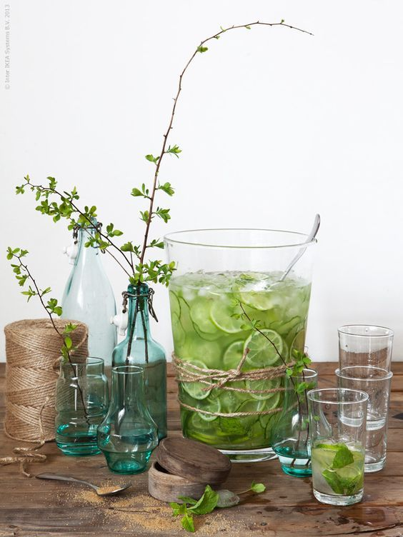 Lovely big mojito in a vase from IKEA
