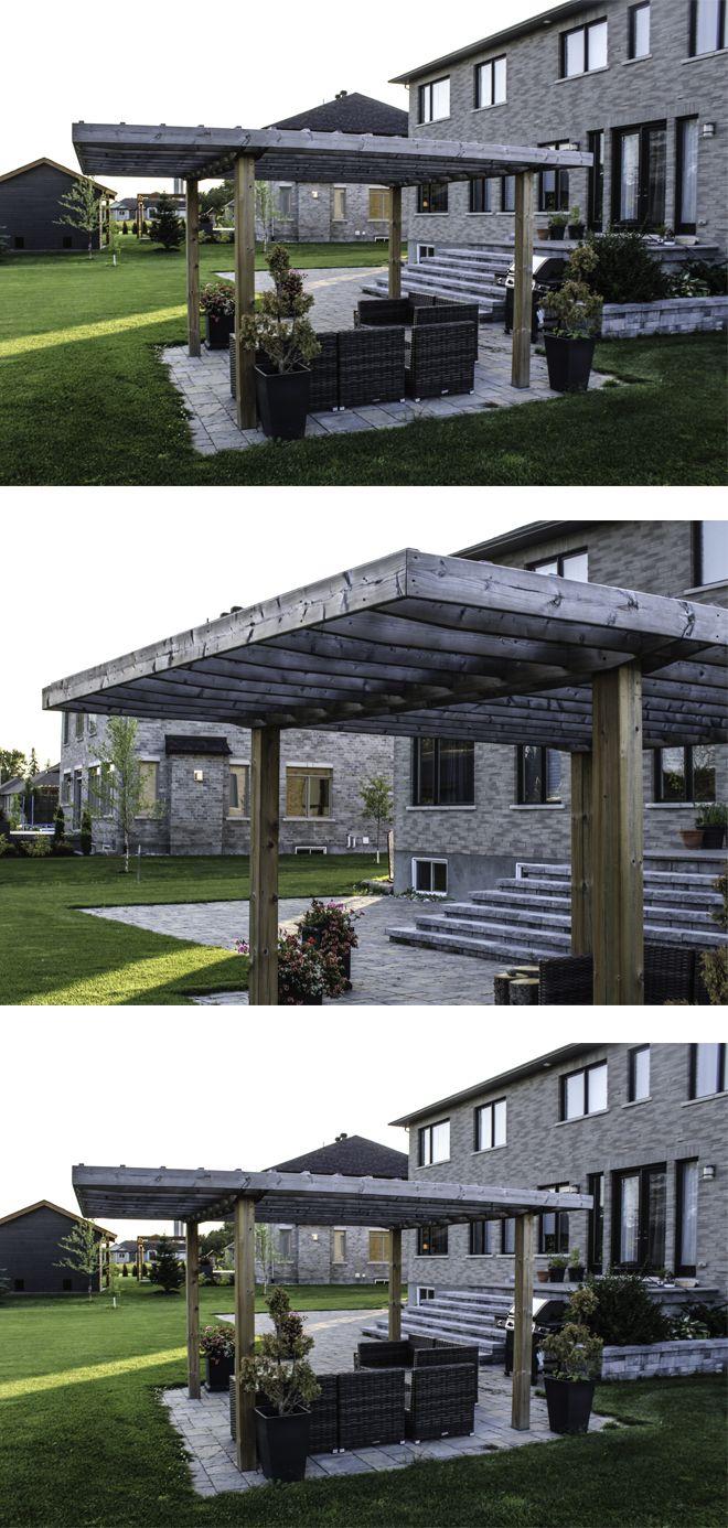 Simple yet elegant pergola design, as the far side of the ... on Side Yard Pergola Ideas id=25230