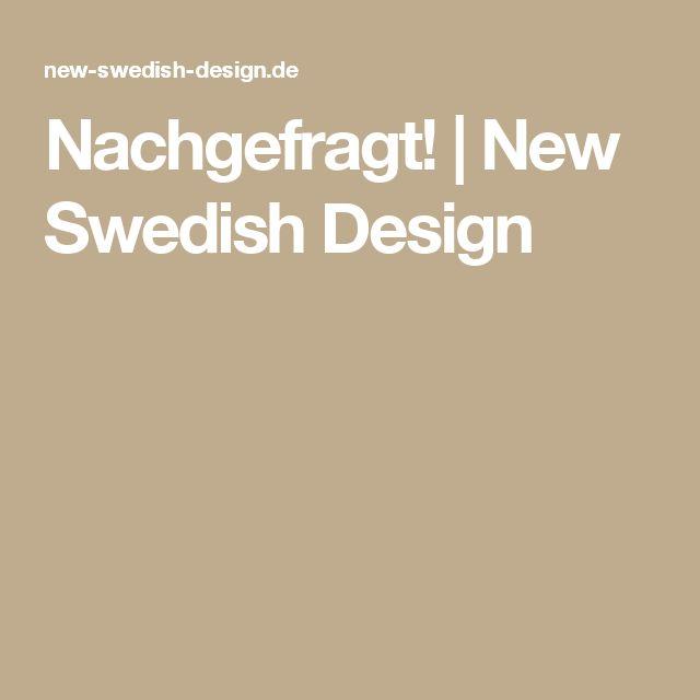 Nachgefragt! | New Swedish Design