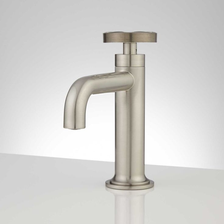 Edison Single Hole Brass Bathroom Faucet With Pop Up Drain