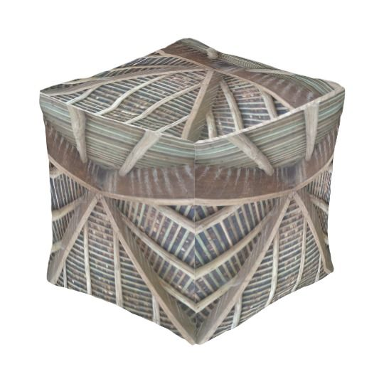 Inside of Wooden Roof, Cube Pouf http://www.zazzle.com/inside_of_wooden_roof_cube_pouf-256153287550371764 #home #decoration #interior #design