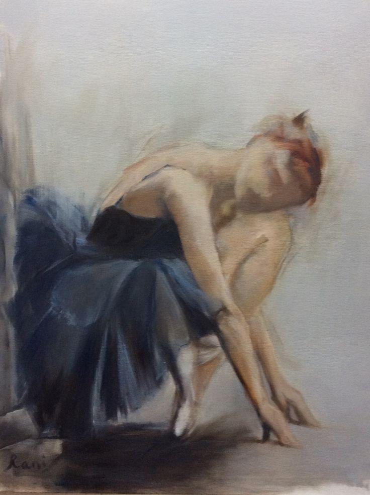Painting by Rani Pillay 'Ballerina' oil on canvas 70/90