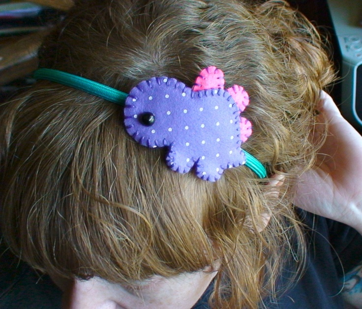 Polka Dot Dinosaur Headband via Etsy.