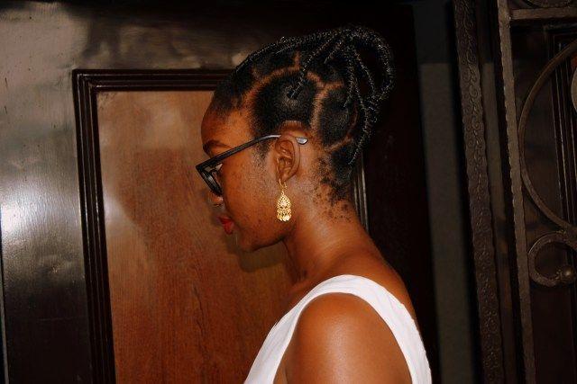 African Threading Ponytail Hairstyle on 4C Natural Hair