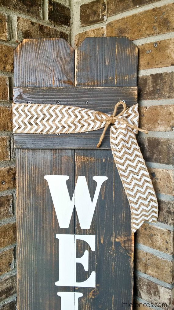 Large Welcome Sign Front Door Welcome Sign Front by LittleFences & 25+ best ideas about Wooden welcome signs on Pinterest | Welcome ... Pezcame.Com