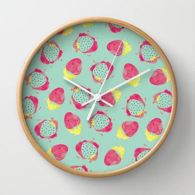 Your strawberries Wall Clock by kikas - $30.00