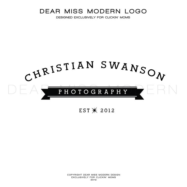 Dear Miss Modern Instant Logos exclusively for Clickin' Moms.  #Logo Design #Dearmissmodern #Clickinmoms $50.00