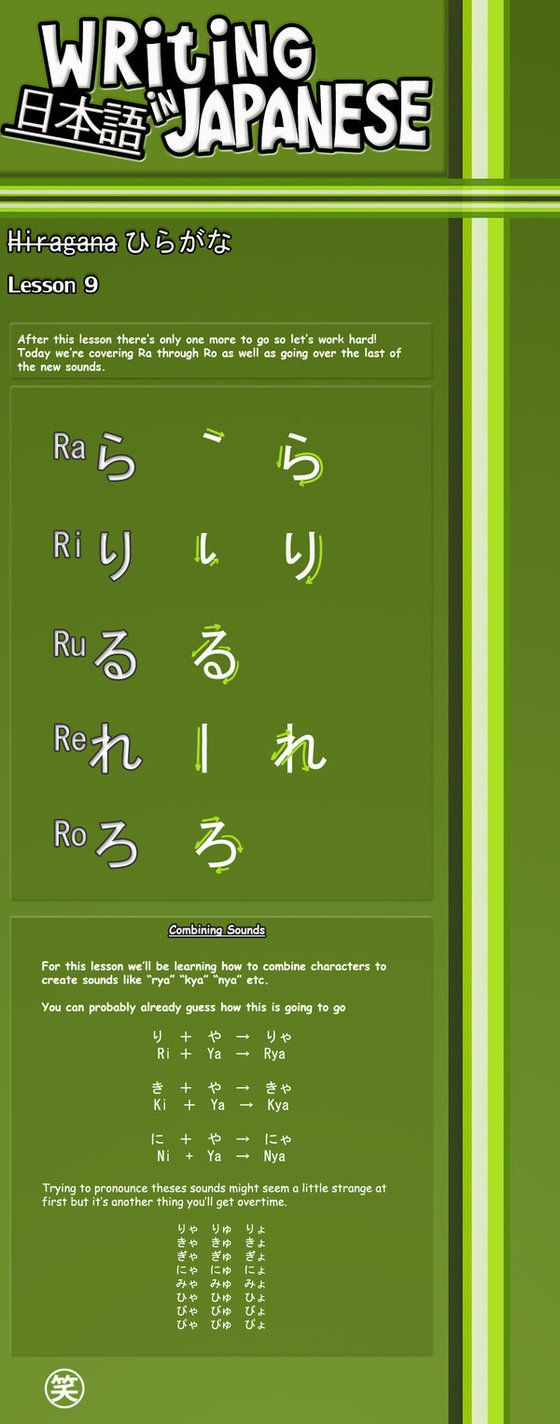 Writing Japanese- Lesson 9 by emm2341 on DeviantArt
