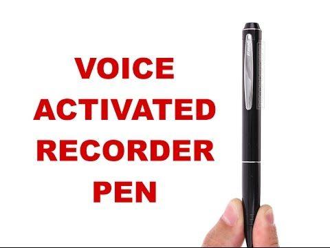 Voice Activated Recording Pen | Audio Recording Devices | SpyGarage.com - YouTube