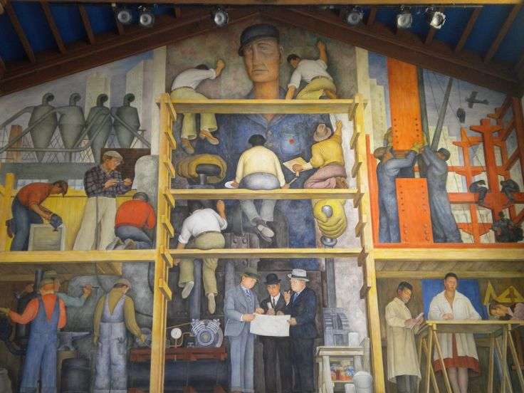 17 best images about murals on pinterest free things to for Diego rivera mural in san francisco