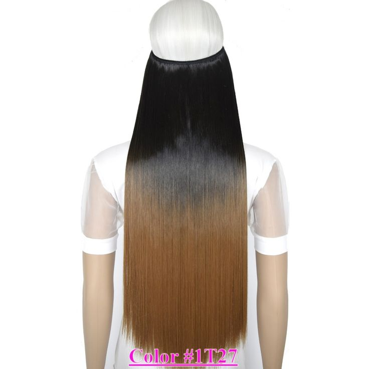 24 60cm 100g straight mircale wire stretchable halo hair 24 60cm 100g straight mircale wire stretchable halo hair extension hairpiece ombre color 1t27 hair extensions wigs pinterest halo hair pmusecretfo Image collections