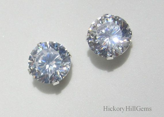 Miore 925 Sterling Silver Blue Swarovski Element Stud Earrings for Women, 6.5mm