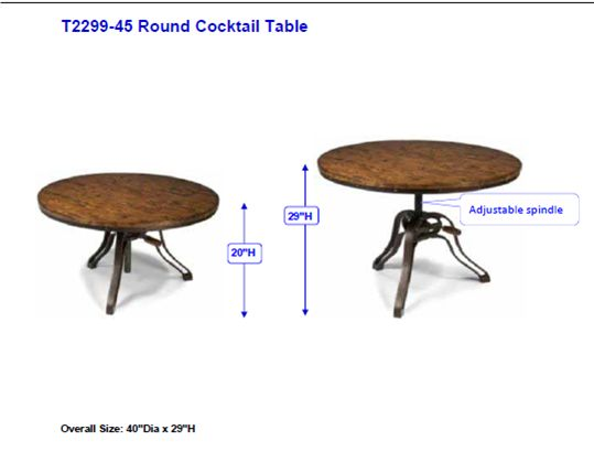 cranfill round cocktail table 40 d x 20 29 - Coffee Table Height