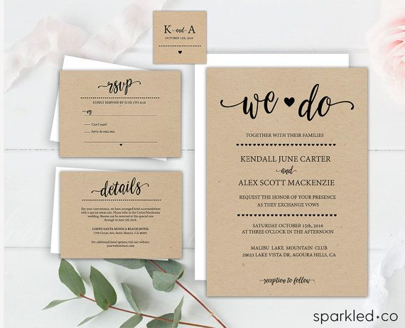 27 best DIY Wedding Invitations images on Pinterest