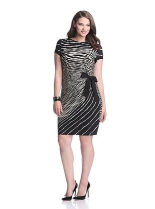 Gabby Skye Women's Side Tie Dress