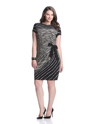 Gabby Skye Women's Side Tie Dress