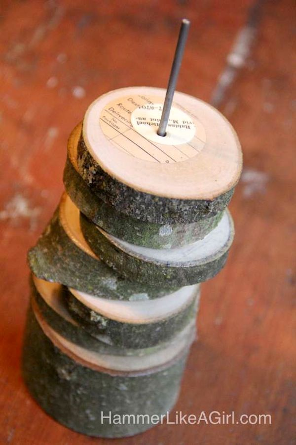 DIY coasters made from branches - doubles as a sculpture when not in use!