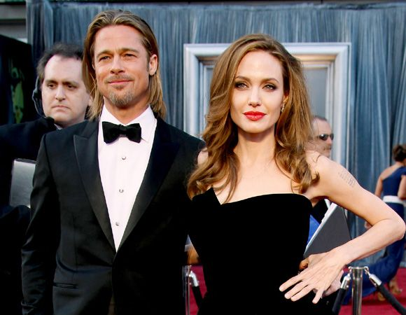 Brad Pitt and Angelina Jolie toast to their Miraval rosé wine