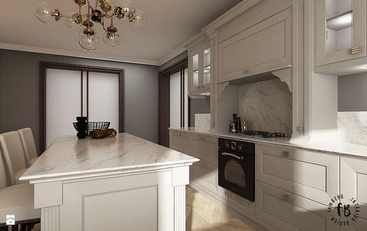 Klasyczna kuchnia z jadalnią - zdjęcie od Femberg Architektura Wnętrz - Kuchnia - Styl Klasyczny - Femberg Architektura Wnętrz