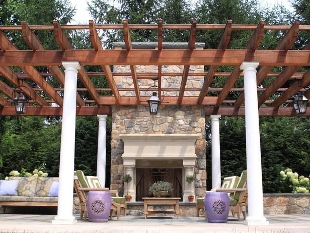 Pretty Pergola - Backyard Makeover With Pool, Pergola and Outdoor Kitchen on HGTV