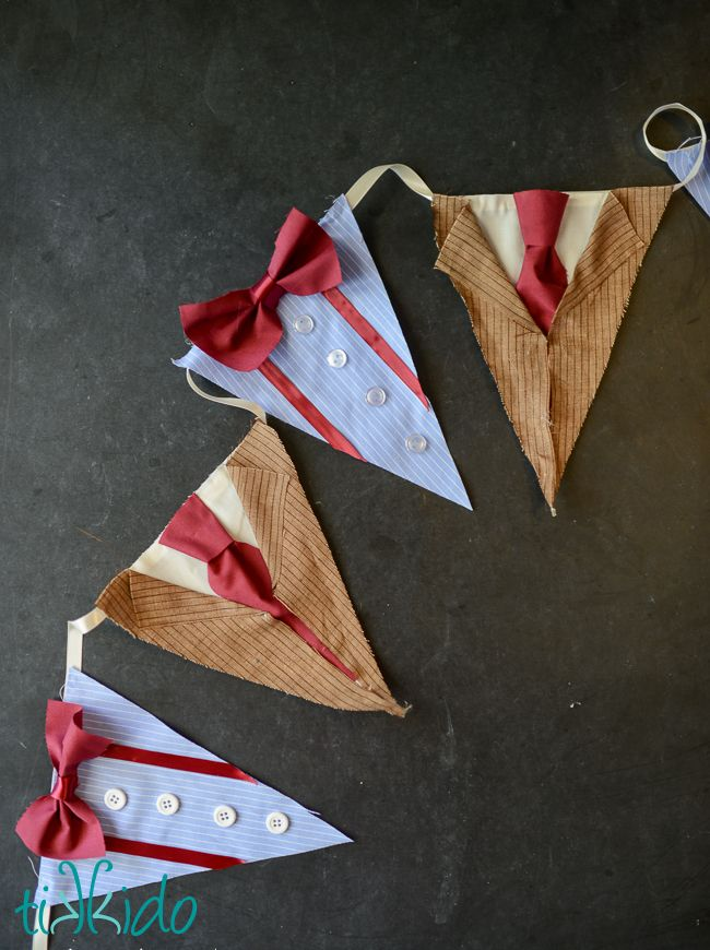 Doctor Who 10th and 11th Doctor Party Bunting Tutorial | Tikkido.com << yes. this is yes. just yes.
