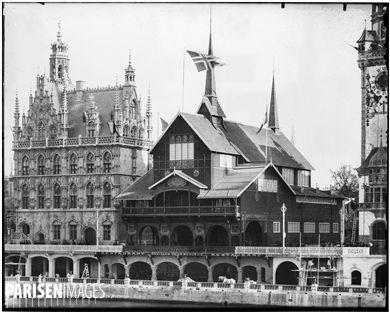 Exposition universelle de 1900. Le pavillon de la Norvège. Paris, 1900.