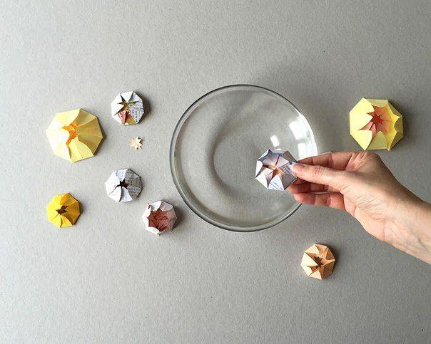 Опыты для детей! Бумажные цветы лотоса. - Поделки с детьми   Деткиподелки