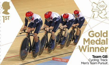 Gold Medal Stamp - Men's Team Pursuit