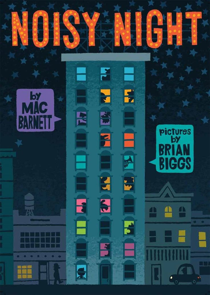 Noisy Night by Mac Barnett, pictures by Brian Biggs. A Child's First Book Club selection: May 2017. Sign up for A Child's First Book Club and your child will receive a book like this every month! A multi-level apartment building's noisy residents keep each other awake in this dazzling picture book collaboration.