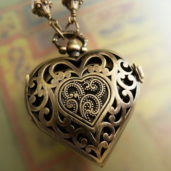 heart locket with watch very special a time for love i just heart it pinterest. Black Bedroom Furniture Sets. Home Design Ideas
