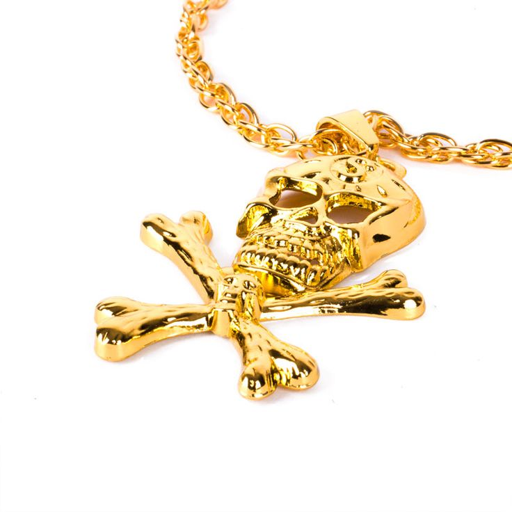 Fashionable and cool Skull and Crossbonesnecklace, perfect for Fancy Dress Costume Party.
