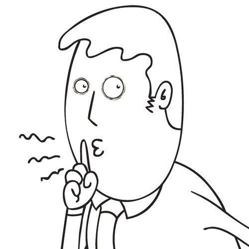 dibujo guardar silencio | Imágenes de un niño haciendo silencio para colorear - Imagui