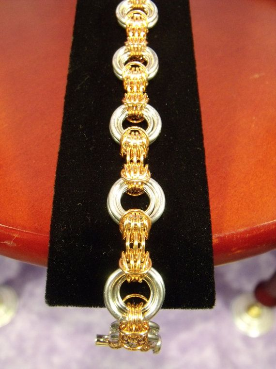 * Chainmaille jewelry bracelet