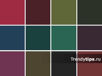 Темные цвета хорошо подходят для пальто, костюмов, юбок, брюк, жакетов, обуви, ремней, сумок. Они создают ощущение стабильности, серьезности, сдержанности. «Родные» цвета для темной осени