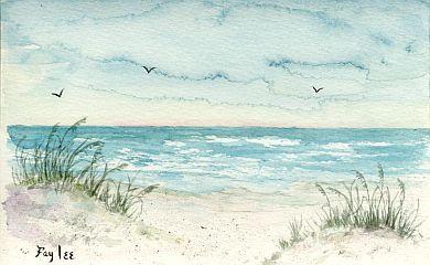 beach watercolor