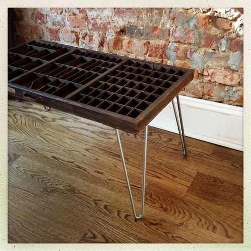 Letterpress Tray Coffee Table: Type Drawer Coffee Table Newlifeoldbones.tumblr.com