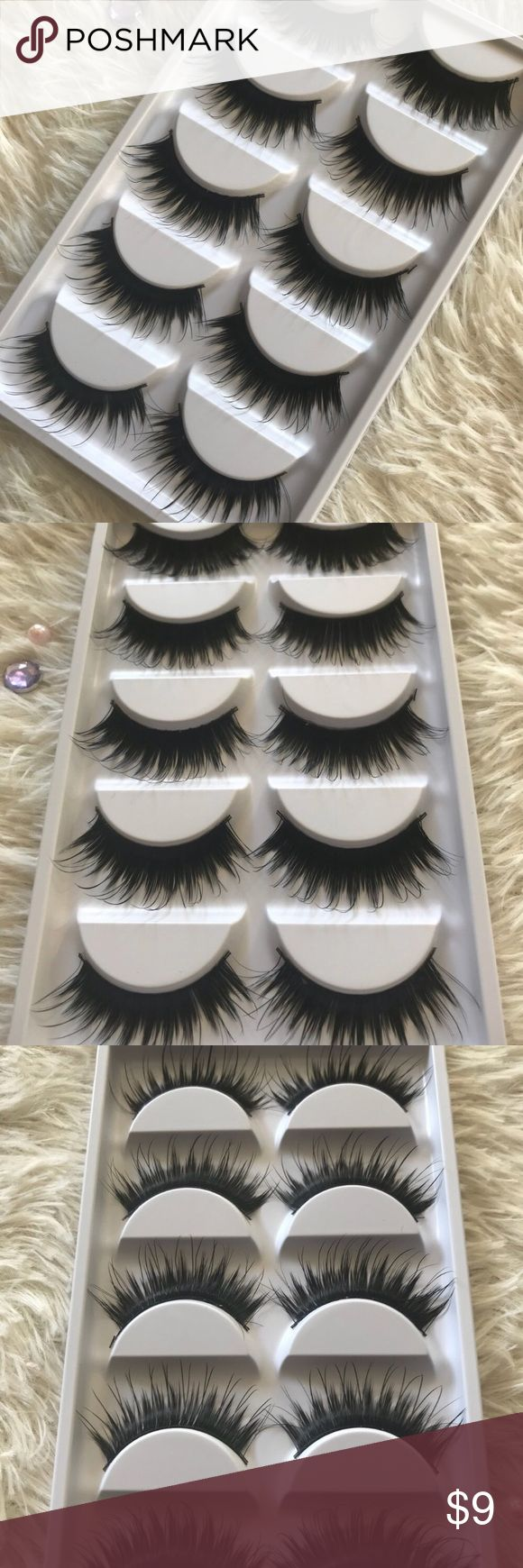Wispy Eyelashes 5 Pairs +$2 Add on eyelash Applicator  +$3 Add on eyelash glue Please message me if you want to add them.  ✅ Bundle &  Save  # tags Iconic, mink, red cherry eyelashes, house of lashes, doll, kawaii, case, full, natural,  Koko, Ardell, wispies, Demi , makeup, Iconic, mink, red cherry eyelashes, house of lashes, doll, kawaii, case, full, natural,  Koko, Ardell, wispies, Demi , makeup, mascara, eyelash applicator, Mykonos Mink , Lashes , wispy ,eyelash case, mink lashes  Ship…