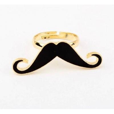 $5.5 Bague Moustache ajustable #ring #fashion #moustache #andalousie