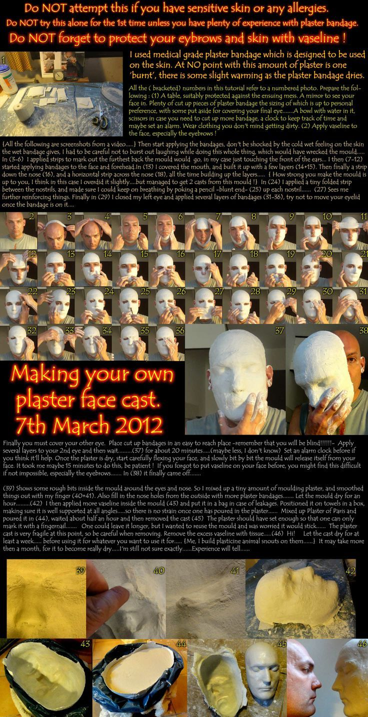 make your own plaster face cast by melesmeles faber halloween makeup - Make Your Own Halloween Makeup
