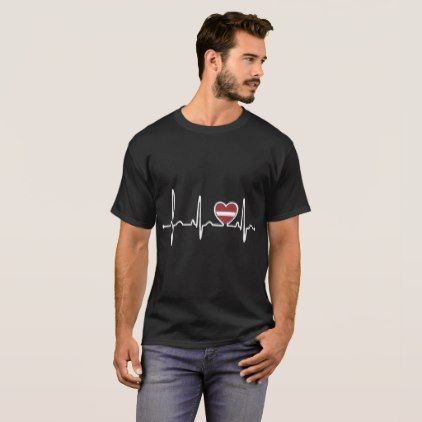 #country - #Latvia Country Flag Heartbeat Pride Tshirt