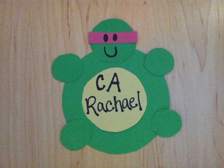 My Teenage Mutant Ninja Turtles Door Decs! RA CA door tags