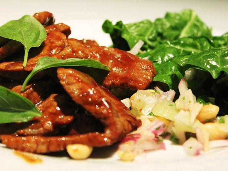 Thai Chilli Beef Stir Fry & Spinach Wraps