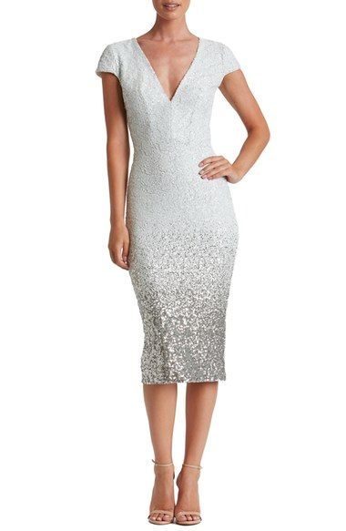 Dress the Population Cece Sequin Midi Dress available at #Nordstrom